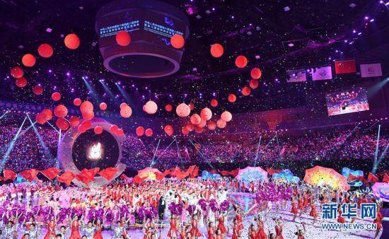 (体育)(32)全国第十届残运会暨第七届特奥会开幕式在天津举行