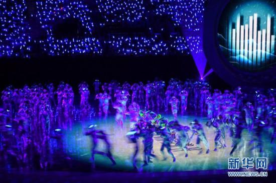(体育)(41)全国第十届残运会暨第七届特奥会开幕式在天津举行