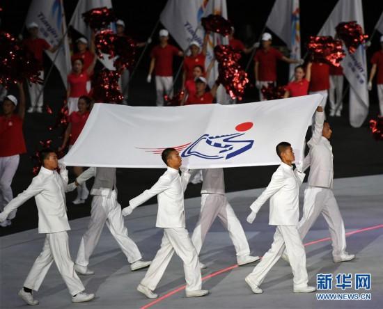 (体育)(6)全国第十届残运会暨第七届特奥会开幕式在天津举行