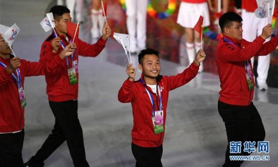 (体育)(13)全国第十届残运会暨第七届特奥会开幕式在天津举行