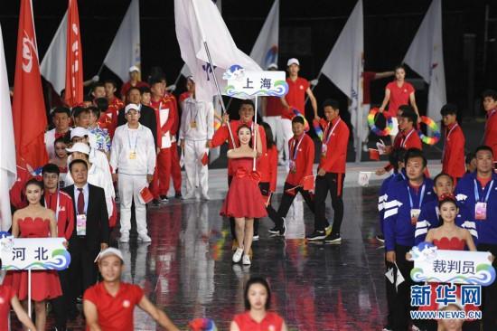 (体育)(4)全国第十届残运会暨第七届特奥会开幕式在天津举行