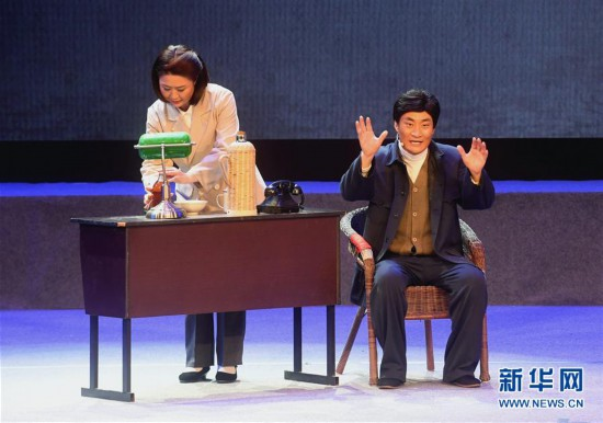 (文化)(4)现代评剧《焦裕禄》在河北大厂上演