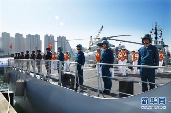 四川现金网中國海軍第33批護航編隊起航赴亞丁灣