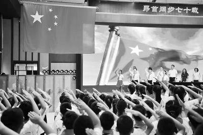 """北京市中小学今迎新学年 """"我和我的祖国""""唱响校园"""