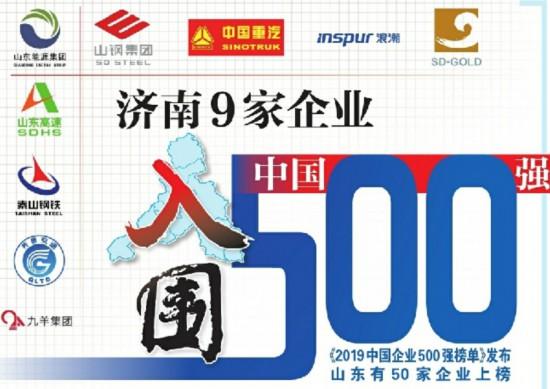 中国企业500强济南占九席 10个大项目签约泉城
