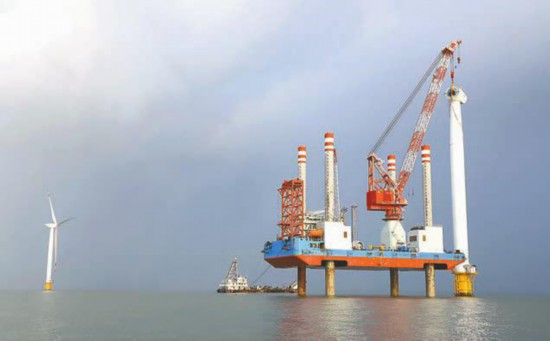 盐城建成海上风电场8个 总装机量居全国首位