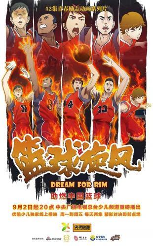 大型体育竞技题材青春励志动画系列片《篮球旋风》将开播