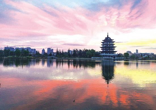 淮安市淮安區:蕭湖霞光