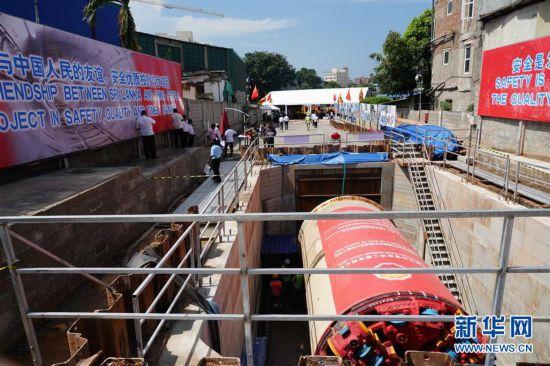 (国际・图文互动)中企承建斯里兰卡首都排水隧道工程开工