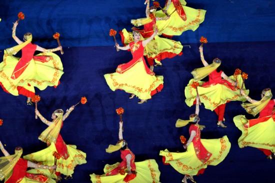 【第十一届全国民族运动会】宁夏代表团驻停表演惊艳亮相开幕式