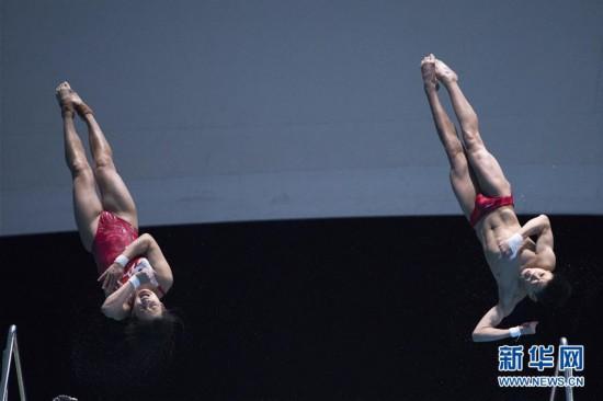 (体育)(1)跳水――亚洲杯:中国选手获混合双人10米台冠军