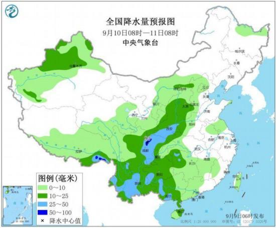 四川贵州云南等地将有强降雨江汉江南华南等地高温