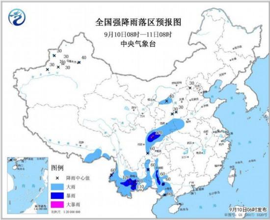 四川盆地等地有强降雨西北地区有大风降温天气