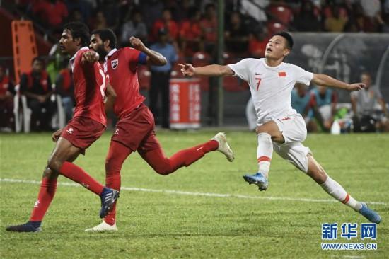(体育)(36)足球――世界杯预选赛:中国对阵马尔代夫