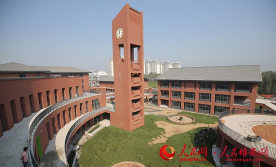 校园内景。中建八局供图