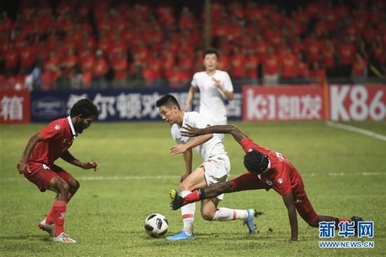 (体育)(29)足球――世界杯预选赛:中国对阵马尔代夫