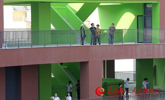 雄县三中教学楼。中建八局供图