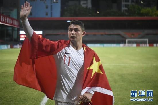 (体育)(10)足球――世界杯预选赛:中国胜马尔代夫