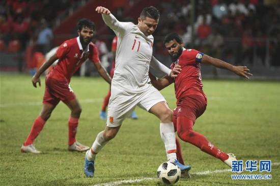 (体育)(20)足球――世界杯预选赛:中国对阵马尔代夫