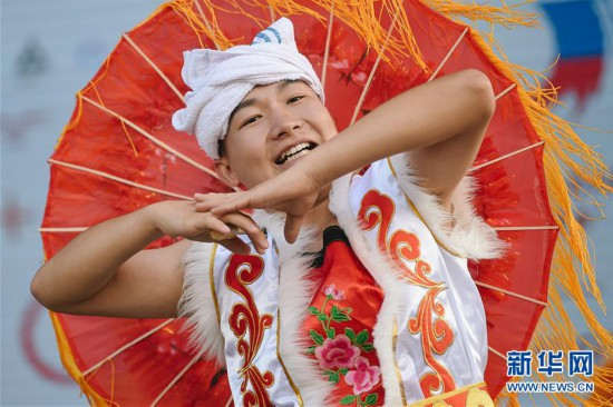 """(国际)(2)中俄民众莫斯科共庆""""中国文化节"""""""