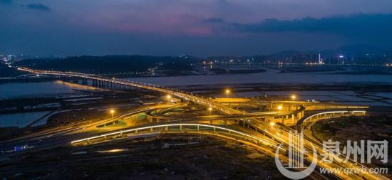 """泉州后渚大桥东立交桥正式通车""""大圆盘""""快速通达台商区"""