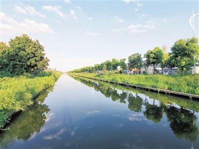南通海門昔日小民溝變身景觀河