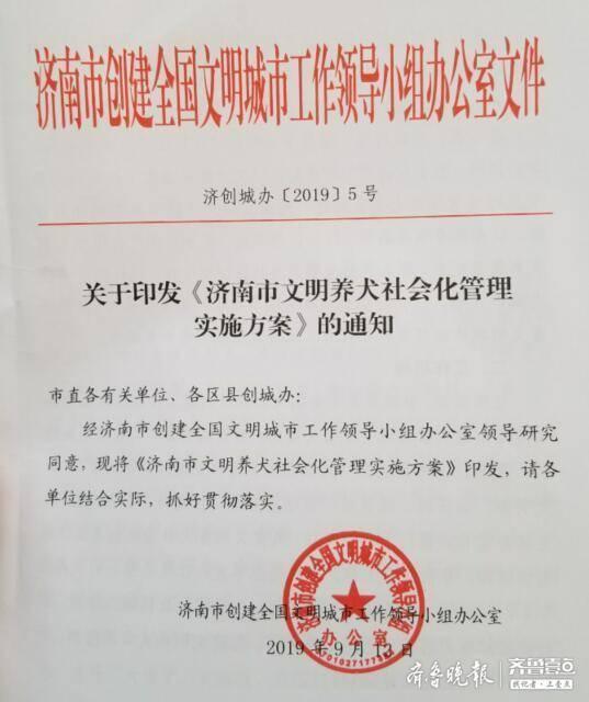 济南文明养犬实施方案印发 每个小区至少抽检十只狗