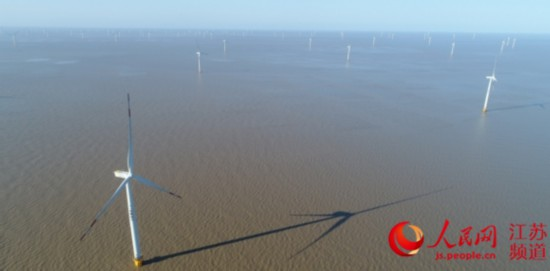 圖為南通海上風電場。
