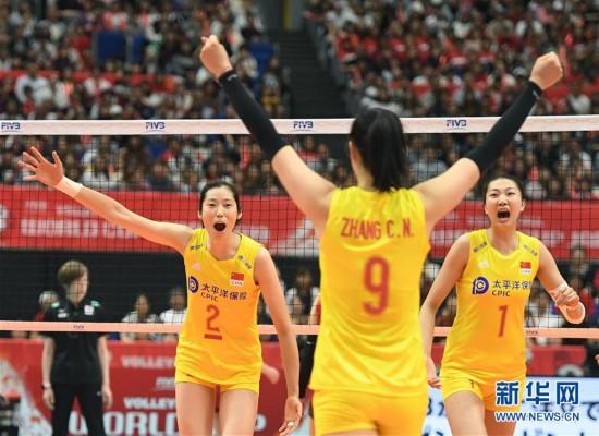 (体育)(1)排球——女排世界杯:中国队胜日本队