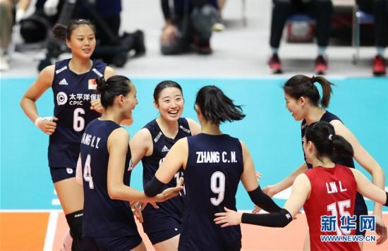 (体育)(3)排球――女排世界杯:中国队战胜肯尼亚队