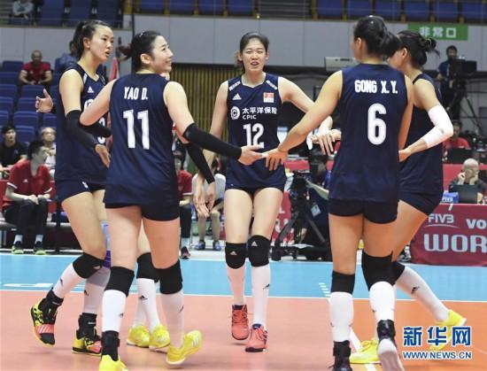 (体育)(1)排球――女排世界杯:中国队战胜肯尼亚队