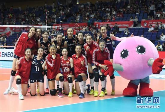 (体育)(8)排球——女排世界杯:中国队战胜肯尼亚队