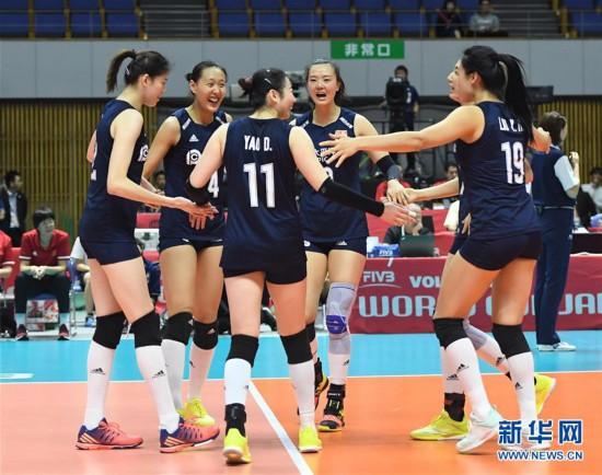 (体育)(6)排球——女排世界杯:中国队战胜肯尼亚队