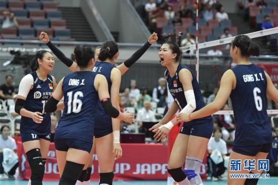 (体育)(2)排球――女排世界杯:中国队胜荷兰队