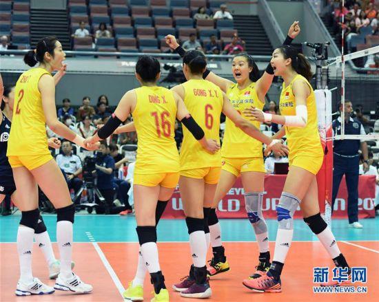 (体育)(1)网赚之家1888,排球――女排世界杯:中国队战胜塞尔维亚队