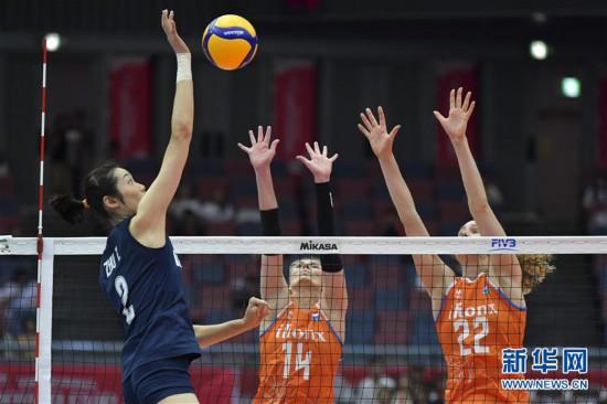 (体育)(15)排球——女排世界杯:中国队对阵荷兰队