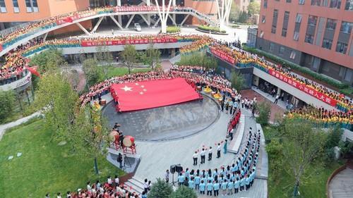 北林大两千多名师生上演爱国快闪