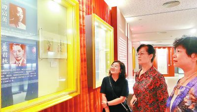"""女烈图 在展覽上還可以看到羅哲文起草的""""請保護國子監古建建筑文物"""
