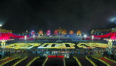 3290块光影屏点亮主题表演 中国技术绘出最美中国色彩