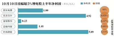 """诺奖花落""""锂电池""""超8成概念股上涨"""