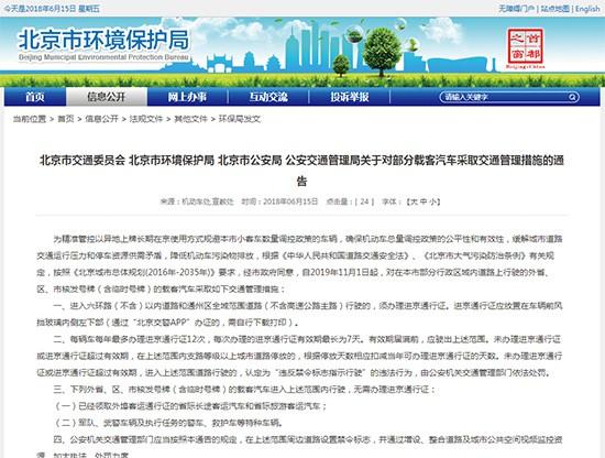 """北京将正式实施""""史上最严的外地车限行政策"""""""
