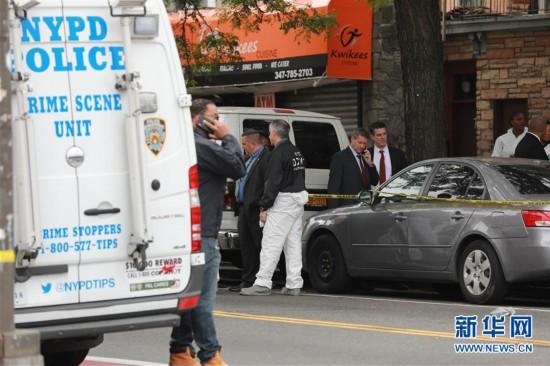 (国际)(1)美国纽约一地下赌场发生枪击案4死3伤