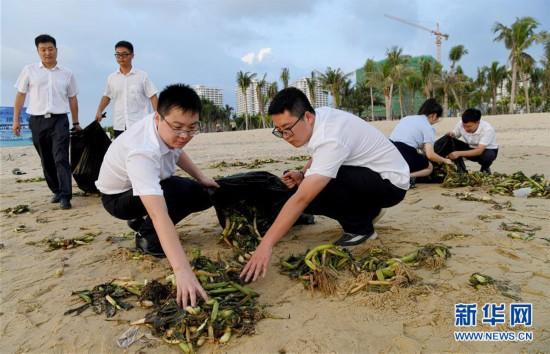 (社會)海南樂東:清理海灘垃圾  保護海洋環境