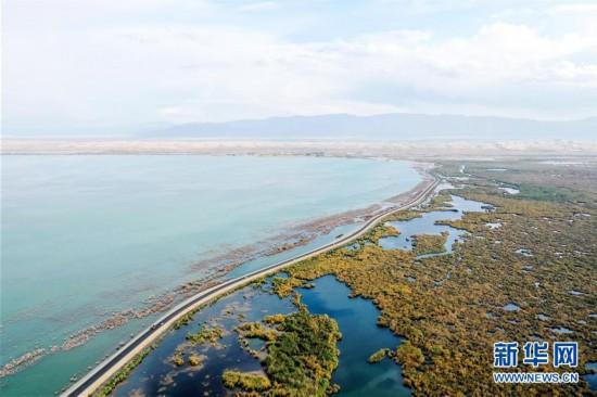 (美丽中国)(1)新疆博斯腾湖畔秋景惹人醉