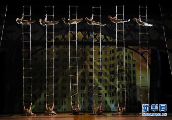(文化)(6)第21届中国上海国际艺术节开幕大戏《战上海》精彩上演