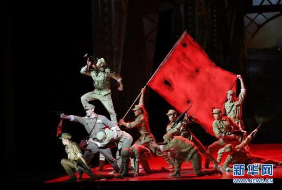 (文化)(1)第21届中国上海国际艺术节开幕大戏《战上海》精彩上演