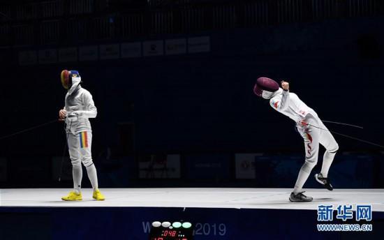 (軍運會)(1)擊劍——中國選手孫一文奪得女子重劍冠軍