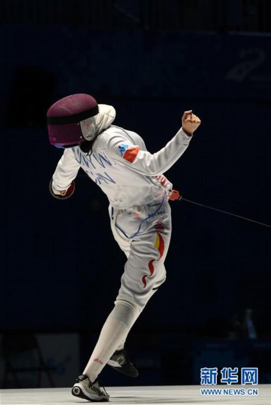 (軍運會)(3)擊劍——中國選手孫一文奪得女子重劍冠軍