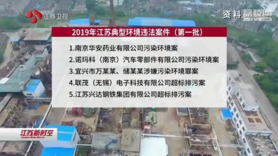 2019年第一批江苏典型环境违法案