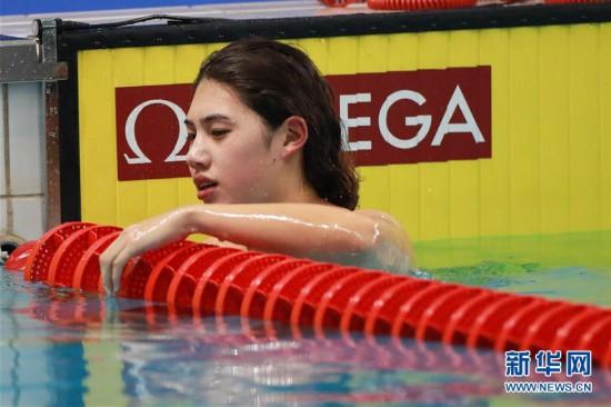 (军运会)(6)游泳――女子100米蝶泳:中国选手张雨霏夺冠